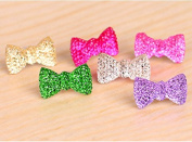 Yeah67886 Bow Tie Crystal Bow Phone Headset Dust Plug For Phone
