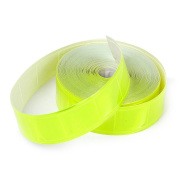 Moonnot 10m Sew on Gloss Reflective Tape with High Visibility Yellow