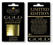 24CT Gold Leaf 100% Genuine Gold Sheets - 30 Sheets edible