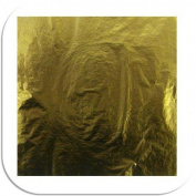 Gold Imitation Gold Leaf imitation 25 Sheet Booklet 14cm x 14cm Gold artmaxx