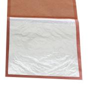 1 Booklet 25pcs/ Booklet Genuine Edible Silver Leaf Gilding, 25 Sheets 9.5X9.5cm