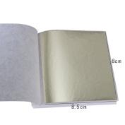 100 Sheets Taiwan Shiny Champagne SilverLeaf Gilding Foil Sheet