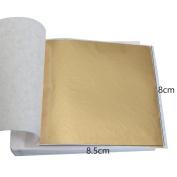 100 Pcs Taiwan Shiny Champagne Gold Leaf Gilding Foil sheet 8X8.5cm