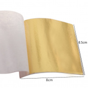100 Sheets Taiwan Shiny Imitation Gold Leaf Gilding Foil Sheet Colour Like 24K Gold