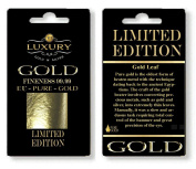 (E175) edible 24ct genuine 10 sheets gold leaf 30mm x 30mm edible