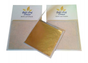 Genuine gold leaf sheets X 12 foils for Nail Art Design & craft