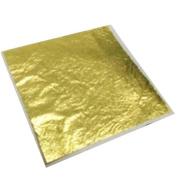 100 x Gold Leaf Sheets 24k Design Art Craft lot Imperfect Leaves