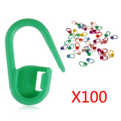 Knitting Crochet Locking Stitch Needle Clip Markers Holder 100Pcs