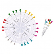 JETTINGBUY 30 Pins, Headed Pin Wheel, Craft Pin Wheel, Multi-Colour