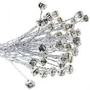 FloristryWarehouse 4mm Diamante Branch Silver (x 18 stems) Wedding Craft