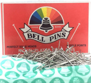 Bell Brand Steel Pins All Pin / Push Pin 26mm approx.(Pack of 2) Needle Point Rounded Head Sewing Dressmaking Craft