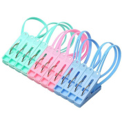 CHIC*MALL 50 Pcs Household Plastic Craft Clamps Strong Clips