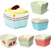 Bazaar 100Pcs Square Muffin Cupcake Baking Cake Mould Paper Bake Cups