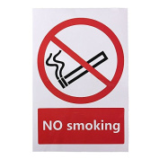 Bazaar No Smoking Warning Sign Logo PVC Sticker 100X150mm