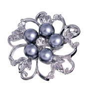 Lumanuby Brooch Fashion Personality Alloy Diamond Pearl Brooch Pin Corsage Fantasy Corsage and Brooch Pin Decoration for Clothes Gift Scarves Shawl Clip