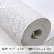 BABYQUEEN Wallpaper Modern Minimalist Pure Pigment Colour Non-Woven Cloth Wallpaper Bedroom Living Room Tv Wall 0.53*10M White