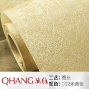 BABYQUEEN Silk Wallpaper Bedroom Solid Colour Non-Woven Cloth Wallpaper Modern Minimalist Living Room Tv Wall Wallpaper 0.53*10M Rice Yellow