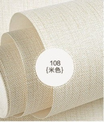 BABYQUEEN Minimalist Modern Solid Colour Non-Woven Cloth Wallpaper Linens Sofa Tv Background Texture Bedroom Living Room Wall Paper Light Beige 0.53*10m