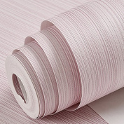 BABYQUEEN Minimalist Pixel Colour Wallpaper Non-Woven Cloth 3D Solid Vertical Band Modern Solid Colour Living Room Wall Paper Bedroom Hotel Engineering Wallpaper Light Pink 0.53*10m