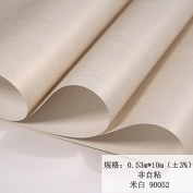 BABYQUEEN Minimalist Modern European Style Reminiscent Of The Solid Colour Wallpaper Sounded The Bedroom Living Room Wall Paper Rice White 0.53*10m