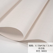BABYQUEEN Minimalist Modern Solid Colour Non-Woven Cloth Wallpaper Living Room Bedroom Office Wallpaper Beige 0.53*10m