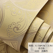 BABYQUEEN Modern Minimalist Geometry Stereo Embossed Non-Woven Cloth Wallpaper Bedroom Living Room Tv Wall Wallpaper Light Coffee Colour 0.53*10m