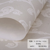 BABYQUEEN Minimalist Modern European Style Wall Paper Non-Woven Cloth Living Room Bedroom Wallpaper Porcelain Carving Craft Wallpaper Deep Cabo Its Colour 0.53*10m