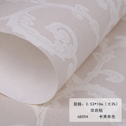 BABYQUEEN Minimalist Modern European Style Wall Paper Non-Woven Cloth Living Room Bedroom Wallpaper Porcelain Carving Craft Wallpaper Khaki Colour 0.53*10m
