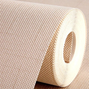 BABYQUEEN Modern And Minimalist Linen Ribbed Solid Colour Bedroom Living Room Wall Paper Non-Woven Cloth Wallpaper In The Office Of The Hotel Project Rice Yellow 0.53*9.5m