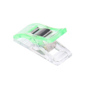 Jooks Sewing Clips Sewing Craft Quilt Binding Plastic Clamps Strong Clips Clear and Green 50 Pcs