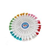 Craft Pin Wheel - Heart Shaped Pins. Sewing Pins.