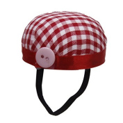 60mm DIY Red Cheque Sewing Needle Wrist Pin Cushion