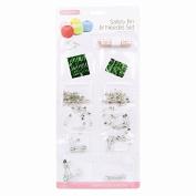 120 Safety Pin & Needle Set Kit Measuring Tape Asst Sizes Sewing Stitching Craft.