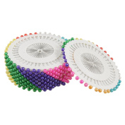 Needlework Faux Pearl Head Sewing Corsage Pins, Plastic, Multi-Colour, 480-Piece