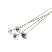 Corsage Creations - 8mm Sparkle Pins - Clear & Silver