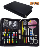 DIKETE® 60pcs Sewing Kit Portable Household Sewing Accessories - 18 Colours of Threads, 16 Sewing Needles and more - Needlework for Home Travel Emergency Use