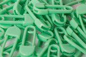 10 Safety Pins, 20 mm, Plastic, blue, green, yellow, red, black or white 20mm green