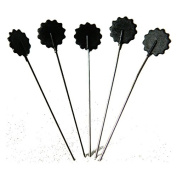 Big Sam 50 Quilting Pins Flower Head Pins in 6 Colours – 0,60x42 mm black