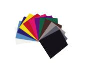 12 Felt Discs Handicraft Felt 25 x 30 CM approximately 1,5 MM Assorted Colours