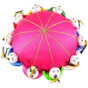Rimobul Oriental Needle Pin Cushion with 10 Kids - Magenta