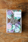Redchocol8(R) 40 x 45mm Button Sewing Pins Pastel Flat Head Dressmaking Quilting Craft Serging