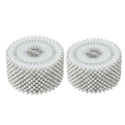 Saim Needlework Faux Pearl Head Sewing Corsage Pins, Plastic, White, 960 Pieces