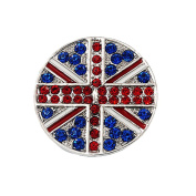 Bling Stars Union Jack Flag Brooch Crystal Rhinestone British Flag Brooch Pin Badge
