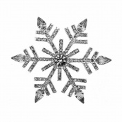 Bling Stars Christmas Xmas Element Crystal Snowflake Brooch Pin Jewellery Gift