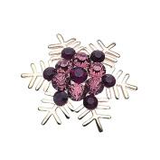 Bling Stars Holiday Christmas Xmas Crystal Snowflake Brooch Pin Jewellery Gift