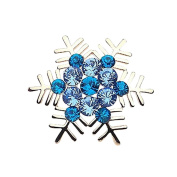 Bling Stars Holiday Christmas Xmas Crystal Snowflake Brooch Pin Jewellery Gift
