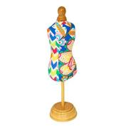 Bright, Stylish 'Margarita' Style Pin Cushion Dress with Varnished Wood Base