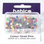 Habico Plastic Headed Pins - Assorted Colours