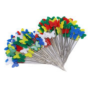 Homgaty 100Pcs Butterfly Head Sewing Pins For Wedding Dress Makers Serging Pinweaving