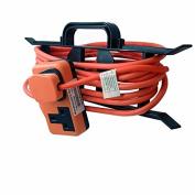 Zexum 6314 2G Hi-Visibility Trail Plug Extension Lead on H Frame, Orange, 10 m